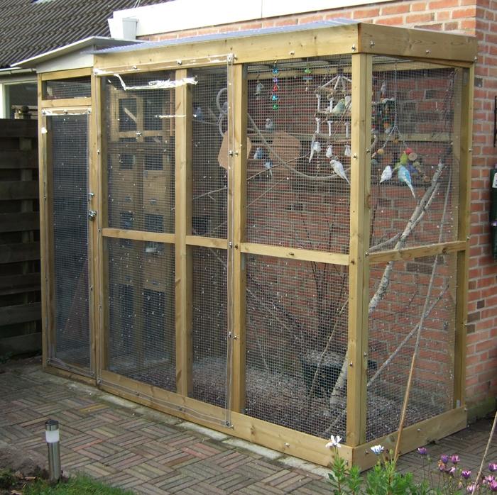 Bouw van de voli re for Foto op hout maken eigen huis en tuin